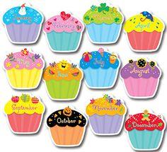 Cupcakes Jumbo Bulletin Board Cut Out