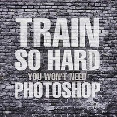 Train so hard you won't need #photoshop tag a friend who agrees with this! #supermarketsixpack #summerready