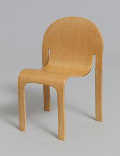Bodyform Side Chair Peter Danko (American, Born 1949) Plywood