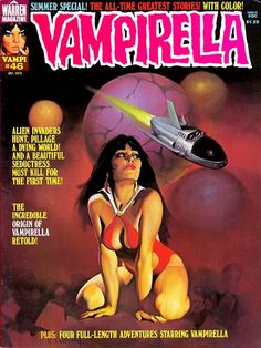 Vampirella Magazine cover #Pulp #Comics