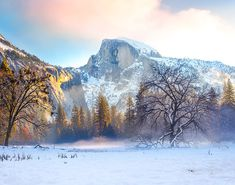 Winter Sunrise Over Yosemite Valley