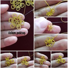 Best 12 French beaded flower basic tutorial – Continuous Wraparound Loops by Lauren's Creations – SkillOfKing. Crochet Sunflower, Crochet Flowers, Hand Embroidery Designs, Embroidery Stitches, Brazilian Embroidery, Needle Lace, Tatting, Needlework, Diy And Crafts