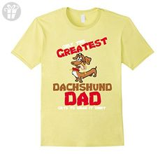 Mens Only the Greatest Dachshund Dad Funny Love Shirts 3XL Lemon - Funny shirts (*Amazon Partner-Link)