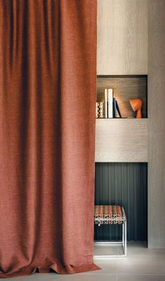 Curtains are one of the most important parts of home improvement design. Different types of curtains may even affect the decorative design style of the whole house. Unique Curtains, Modern Curtains, Curtains With Blinds, Interior Design Living Room, Living Room Decor, Bedroom Decor, Color Terracota, Modern Window Treatments, Casamance