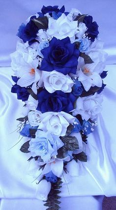 Royal Blue Wedding | Our full selection of quality Silk Wedding Flowers are available in a ...