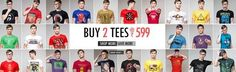 Buy Two Inkfruit Graphic Tees at Rs 599 Only and save Flat Rs 200.  The Graphic Printed T-shirt, round neck tee for men from Inkfruit by Zovi available in different designs to choose from. The Inkfruit Store offer Free shipping and COD options with free exchange...