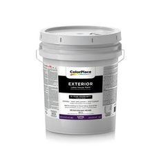 ColorPlace Exterior Satin Paint, Medium Base