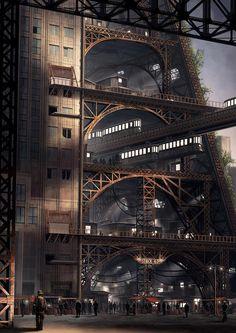 Steampunk Tendencies   Concept art by Alex Jessup #Digitalart #Industrial #Steampunk
