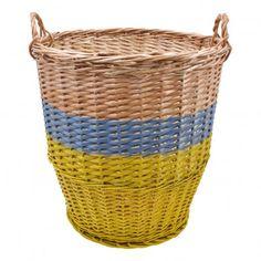 Ratatouille Basket - Yellow and Sky Blue, 42 cm in diameter  Rose in April