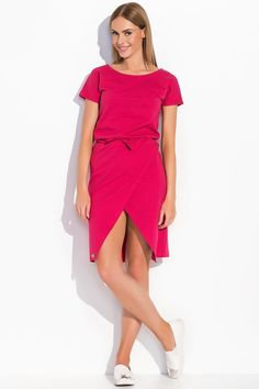 Sukienka Makadamia M293 - fuksja Stylowa sukienka w świetnych kolorach. ...  https://www.mega-ciuchy.pl/sukienka_makadamia_m293_fuksja