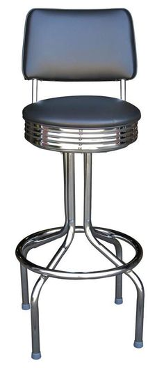 Bar Stool - 1672 | Diner Bar Stool with Back | Barstools