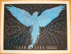 2013 Tegan & Sara - Austin Concert Poster by Todd Slater