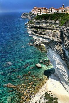 Bonifacio, Corsica, France.  They must like living on the edge.