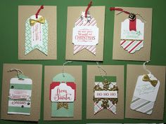 Oh, What Fun Tag Kit Christmas Cards Part 2 using Stampin' Up! Products #stampinup for a full details please visit my blog http://ellenthehappystamper.blogspot.com.au