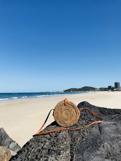 This beautifully hand-woven rattan bag has been made with love on the  island of