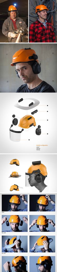 The Unit Helmet comes with an array of accessories that make reaching for another helmet a thing of the past. The Unit Helmet comes complete with a torch, ear muffs, sun visor and a face visor – facilitating the user when the need to use three accessories at any given time in a situation posing multiple risks.
