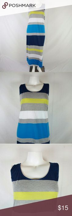 Just Love Striped Tank Maxi Dress Size 3X Brand new & never worn. Has small spot on the knee (see pic 4). Bust measures 48 inches, length 56 inches with a 14 inch slit on each side. Material: cotton/polyester. Add to a bundle to receive 20% off 3 or more items. Just Love Dresses Maxi
