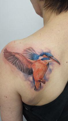 Kingfisher Tattoo, Tattoo Inspiration, Raven, Watercolor Tattoo, Body Art, Tattoos, Tatuajes, Ravens, Tattoo