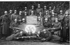 Czechoslovak soldiers with captured nazi weapons and flag. Second World, World War Two, Wwii, German, Military History, Soldiers, Weapons, Russia, Movie Posters