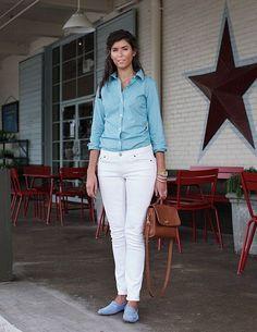 white fashion 6 WHITE pants? Why not! (26 photos)