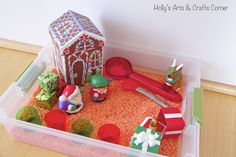 Holly's Arts and Crafts Corner: Toddler Sensory Activity: Holiday Sensory Bin Sensory Activities Toddlers, Sensory Bins, Christmas Activities, Toddler Preschool, Sensory Table, Holidays With Toddlers, Toddler Art Projects, Crafty Kids, Fun At Work