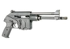 The Kel-Tec PLR-16 is a gas operated, semi-automatic pistol chambered in 5.56 mm NATO caliber. It accepts standard AR-15 magazines.
