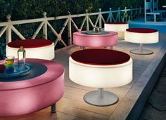 Outdoor Lighting Designs-Modern Outdoor Furniture - Home House Design Outdoor Floor Lamps, Patio Lighting, Outdoor Tables, Outdoor Decor, Lighting Ideas, Lighting Design, Outdoor Parties, Outdoor Spaces, Outdoor Art