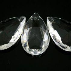 CC0050-32-C | Mandorla 32 mm goccia pendente vetro veneziano