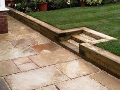 garden sleepers ideas garden retaining wall ideas wooden steps