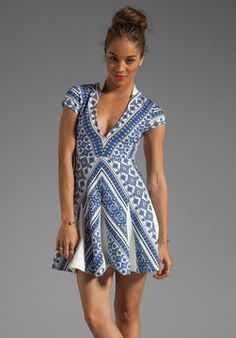 ShopStyle: Pencey Deep V Dress