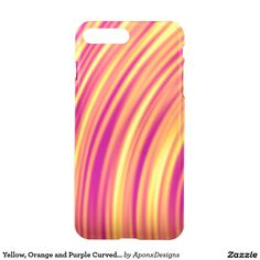Yellow, Orange and Purple Curved Ripples Pattern Orange And Purple, Yellow, Apple Products, Iphone Case Covers, Cover Design, Create Your Own, Pattern, Patterns, Model