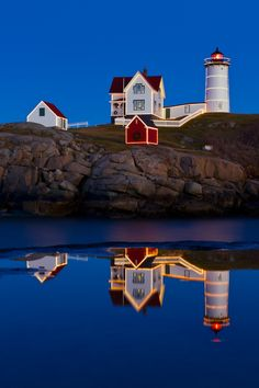 Cape Neddick Lights by Michael Blanchette