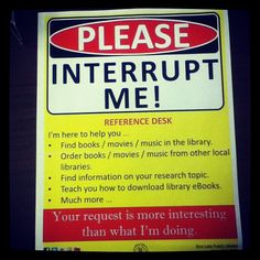 Would that all Librarians felt this way. I sure do...