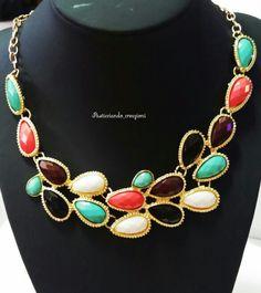 ❤Novità!❤ Girocollo dorato con gocce colorate ✔Disponibili vari colori  ▶12,00 COMPRESA SPEDIZIONE!!!◀  ⚠Per info:  direct o ☎ whastapp 3286678719  #collana #necklace #moda #fashion  #charm #tagsforlove #accessori #followme #bijoux #gioielli #vintage  #solocosebelle  #fashionblog #new#jewels #negozio #shopping  #jewellery #amazing #loveit #style #bigiotteria #tagsforlike #shop #elegante #collar #choker #girocollo #gocce #elegant