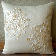 Pearl Drops  Pillow Sham Cover  24x24 Inches by TheHomeCentric, $65.10
