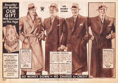 1930's mens coats - Google Search