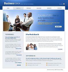 Business Coach Website Templates by Glenn