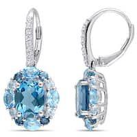Diamond Dangle Earrings, Pink Earrings, Gemstone Necklace, Diamond Earring Jackets, Pink Tourmaline, Blue Topaz, Gemstones, Sterling Silver, Pendant