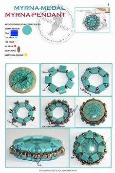 Bezel a donut with tila beads. #Seed #Bead #Tutorials