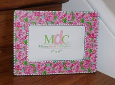 1299 lilly pulitzer picture frame first impressions by mamaduckcreation 1299