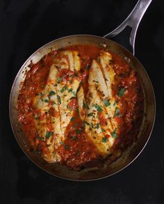 Fish in Crazy Water (Flavorful Tomato Sauce).