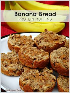 Banana Bread Protein Muffins- a great pre-workout snack! | The Adventures of Z & K