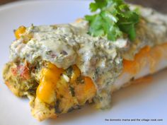 Green Enchiladas!! YUM! It's what's for dinner tonight!!