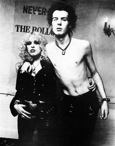 Sid Vicious and Nancy Spungen photographed bySteve Emberton, 1978.    aka rihanna and chris brown of rock