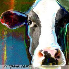 Cow Art   Art Dog Blog