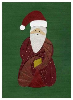Iris Folding @ CircleOfCrafters.com: Make an Iris Folded Old World Santa