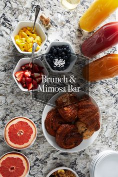 The fresh and tasty menu is set. Now pair it with some fun drink ideas. Follow these three simple tips to elevate your brunch with the perfect Mimosa Bar.  Pictured design: Bellingham™