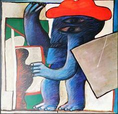 Horst Antes Interior IV : the geometrician 1963 Offset Lithograph