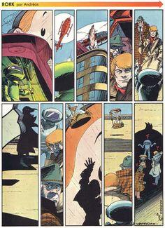 Rork meets Ric Hochet...   ;)  Andreas Comic Art, Comic Books, Graphic, Novels, Hero, Comics, Illustration, Artist, Artists