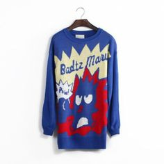 Blue pullovers character regular sleeve long sleeve o-neck casual regular Print Sweaters